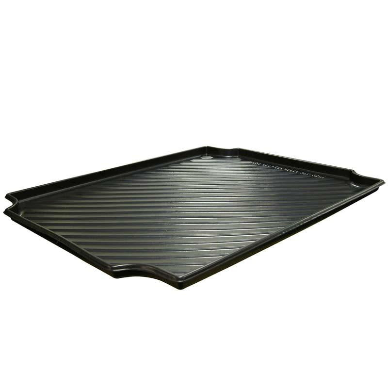 Heavy-Duty Black Plastic Containment Tray