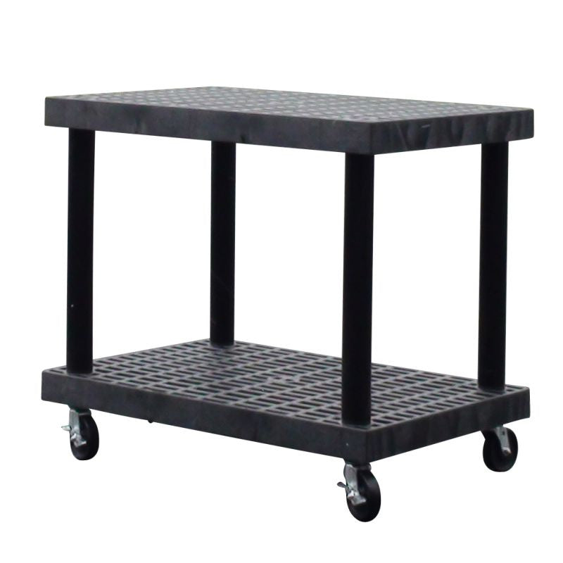 cart base with ventilated plastic shelves