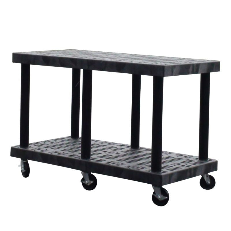 plastic cart base with ventilated shelves