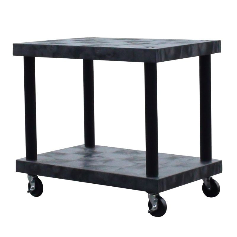 Cart base with solid top storage shelves