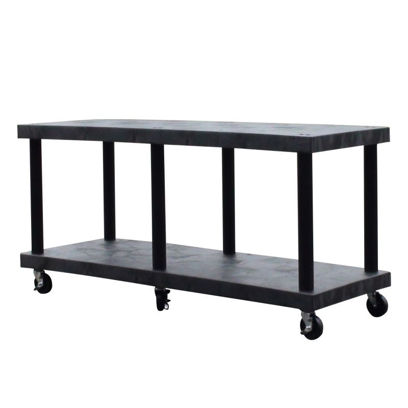 cart base with solid shelves