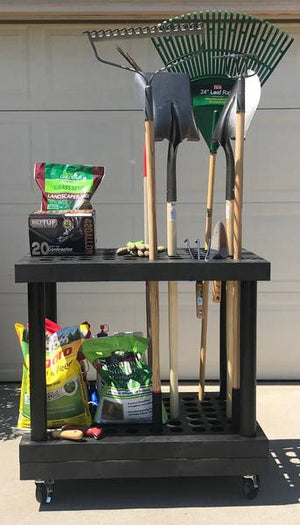 "Long Handle Tool Cart  |  36""L x 24""W x 37""H 