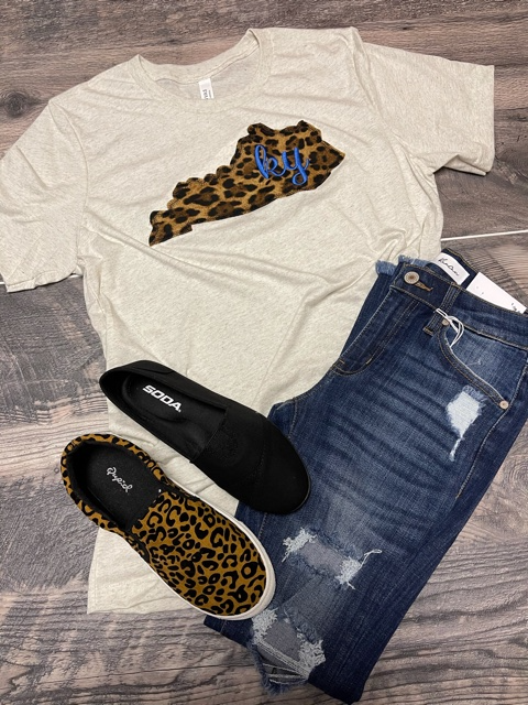 Leopard State KY Tee