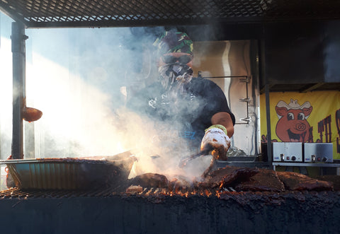 Jorge Barbecuing at Ribfest