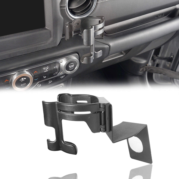 Hooke Road Drink Cup Holder Phone Mount Bracket for Jeep Wrangler JL 2018-2019 MMR1824 Jeep JK Accessories 2