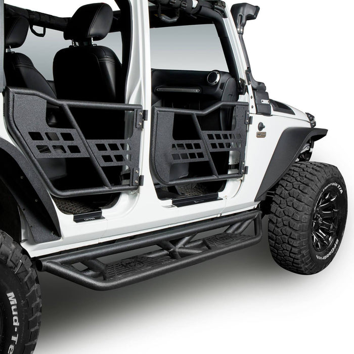 Hooke Road BLADE Side Steps Rocker Guard Nerf Bars(07-18 Jeep Wrangler JK JKU 4 Door)
