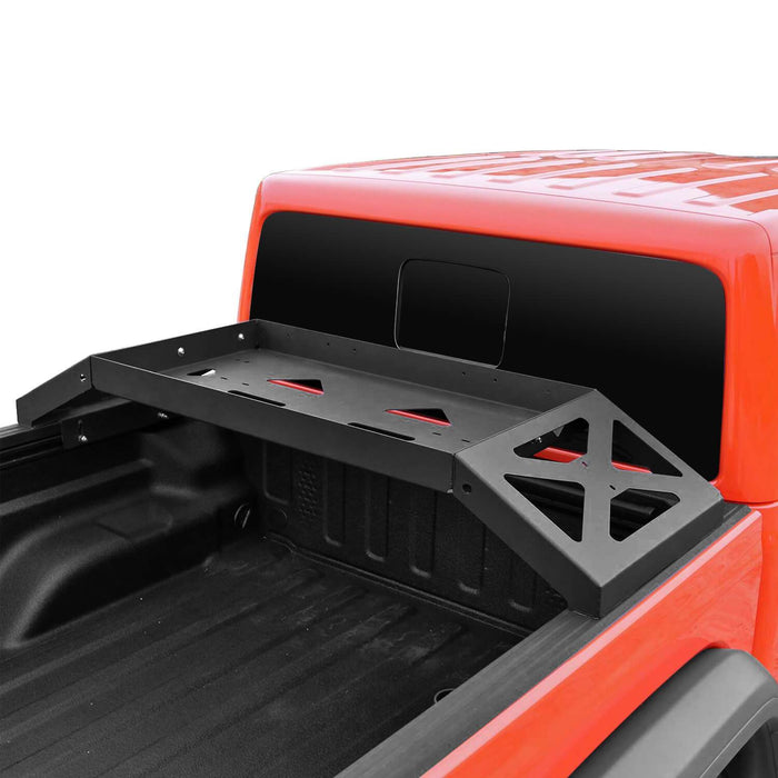 Hooke Road Bed Rack Cargo Luggage Storage Carrier(20-21 Jeep Gladiator JT)