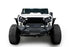 Hooke Road Opar Blade Front Bumper w/60W Work Light Bar & Different Trail Rear Bumper w/Tire Carrier Combo Kit for 2007-2018 Jeep Wrangler JK JKU BXG017b114 u-Box Offroad 6