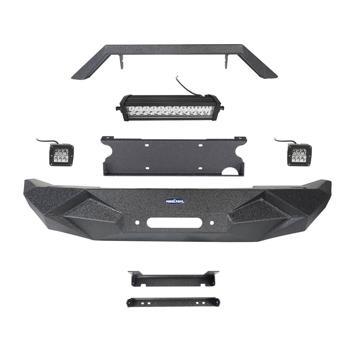 Hooke Road Blade Master Front Bumper w/Winch Plate & Light Bar(07-18 Jeep Wrangler JK)