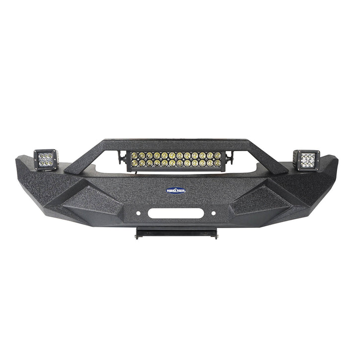 Hooke Road Jeep JK Blade Master Front Bumper w/Winch Plate & Light Bar for 2007-2018 Jeep JK BXG117B u-Box Offroad 7