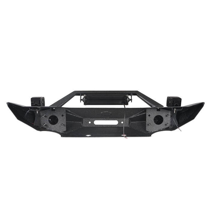 Hooke Road Jeep JK Blade Master Front Bumper w/Winch Plate & Light Bar for 2007-2018 Jeep JK BXG117B u-Box Offroad 9