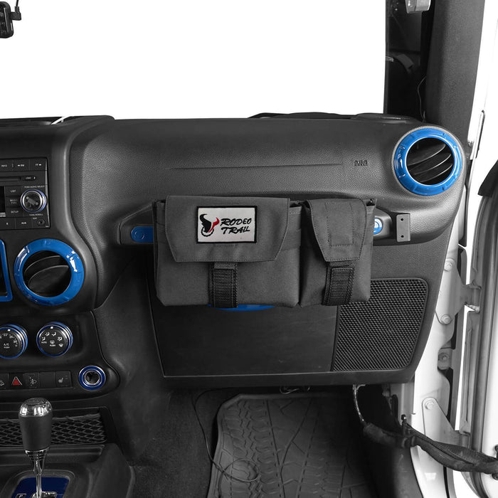 Rodeo Trail Co-Pilot Center Console Storage Organizer(07-20 Wrangler JK JL & 2020 Jeep Gladiator JT)