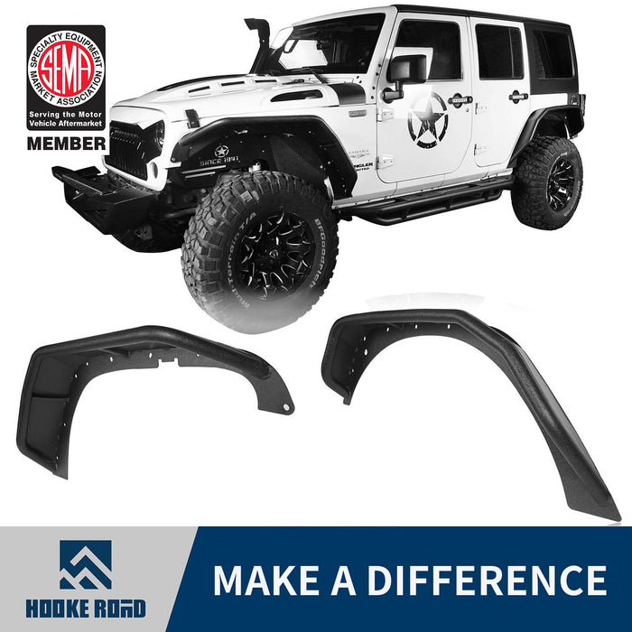 Hooke Road Opar Flux Tubular Fender Flares For Jeep Wrangler JK 2007-2018 Jeep JK Parts BXG089 u-Box offroad 1