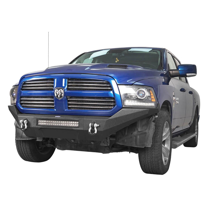 Hooke Road Front Bumper / Rear Bumper / MAX 13.8 Inch High Bed Rack(13-18 Dodge Ram,Excluding Rebel)