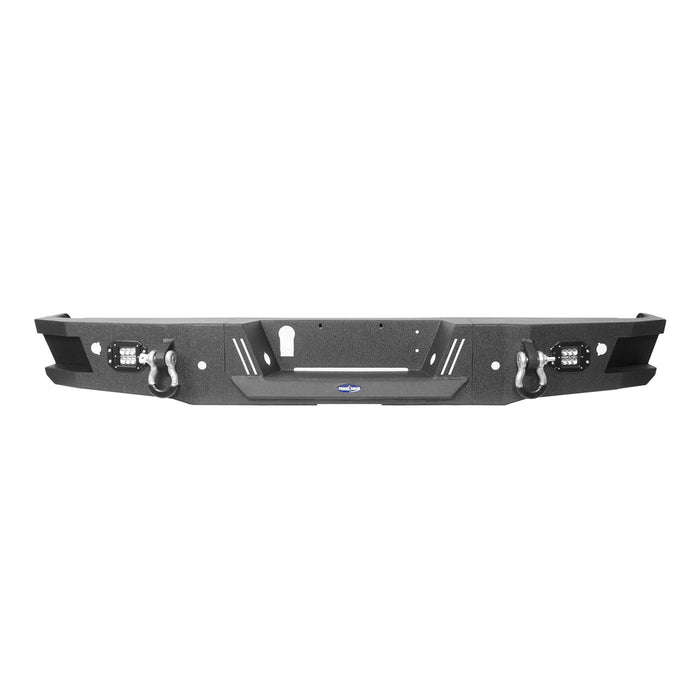 Hooke Road Full-Width Front Bumper & Rear Bumper Back Bumper(09-14 Ford F-150, Excluding Raptor)