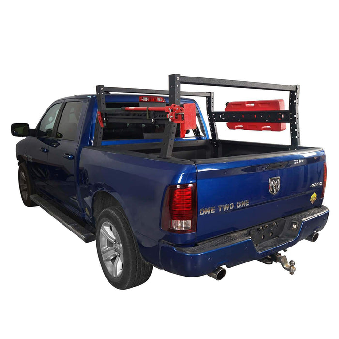 Hooke Road Front Bumper / Rear Bumper / 24.4 Inch High Bed Rack(13-18 Dodge Ram 1500,Excluding Rebel)