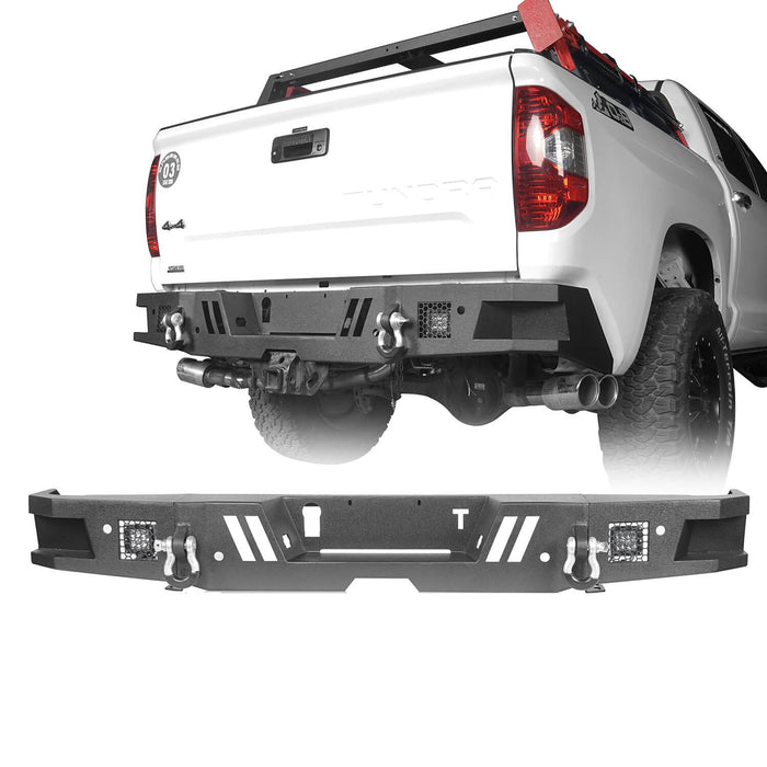 Hooke Road Full Width Front Bumper / Rear Bumper / Roll Bar Bed Rack(14-21 Toyota Tundra)