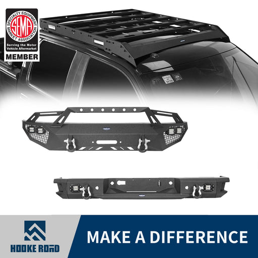 Hooke Road Front Bumper, Rear Bumper, Roof Rack(06-14 Ford F-150)
