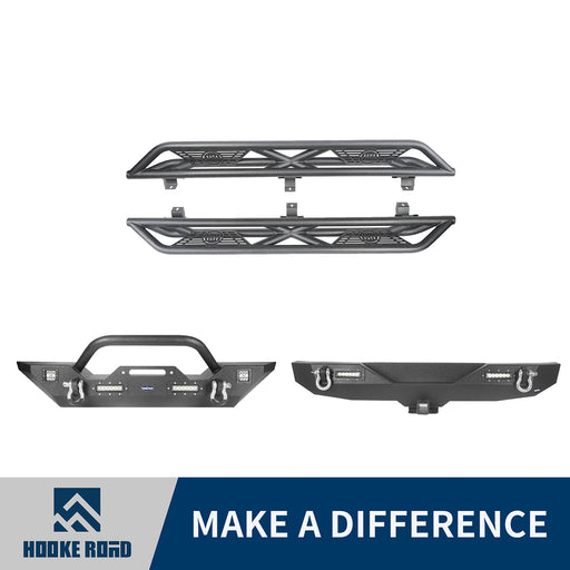 Hooke Road Front Bumper, Rear Bumper, Side Steps(18-21 Jeep Wrangler JL)