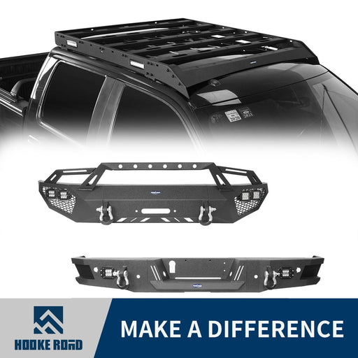 Hooke Road Full Width Front Bumper, Rear Bumper, Roof Rack(06-14 Ford F-150)