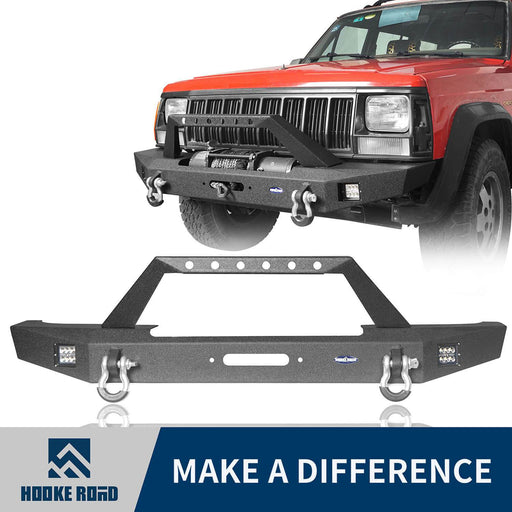 Hooke Road Destroyer Full Width Front Bumper w/ Winch Plate(84-01 Jeep Cherokee XJ)