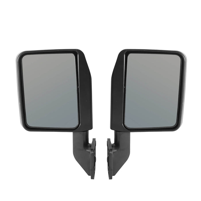 Hooke Road Half Door Side Mirrors for 1997-2020 Jeep Wrangler TJ JK JL & 2020 Gladiator JT u-Box Offroad MMR10016 7