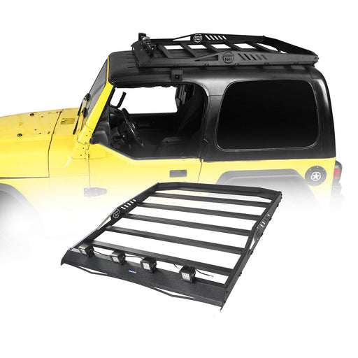 Hooke Road Hardtop Roof Rack Luggage Carrier Rack Backbone System(97-06 Jeep Wrangler TJ Hardtop )