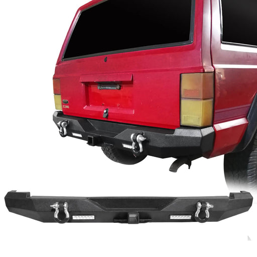 Hooke Road Destroyer Rear Bumper w/2 ¡Á18W LED Floodlights for Jeep Cherokee XJ 1984-2001 BXG321 u-Box Offroad 2