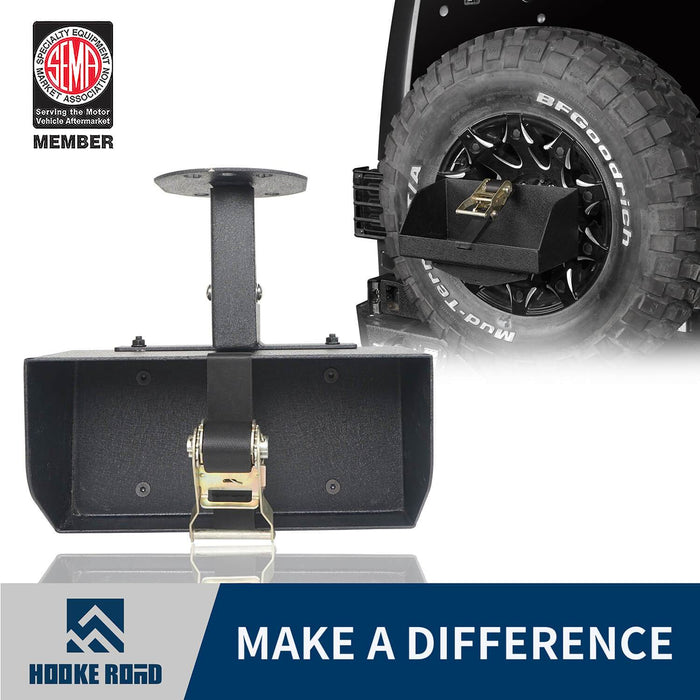 Hooke Road Jeep Jerry Can Holder Spare Tire Mounting Bracket for Jeep Wrangle TJ JK JL 1997-2019 MMR3002 Jeep Accessories Bumper Accessories u-Box Offroad 1