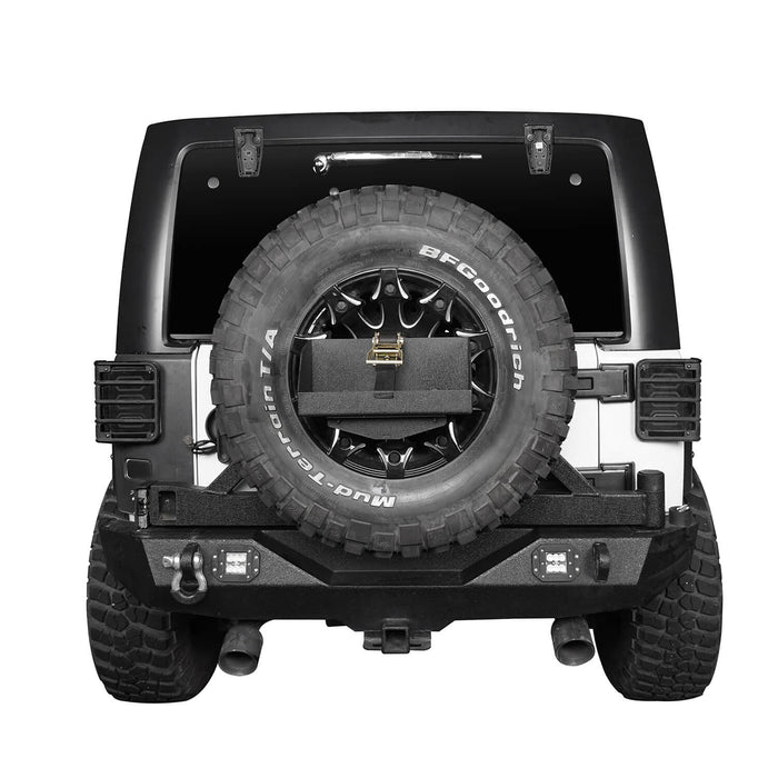 Hooke Road Jeep Jerry Can Holder Spare Tire Mounting Bracket for Jeep Wrangle TJ JK JL 1997-2019 MMR3002 Jeep Accessories Bumper Accessories u-Box Offroad 4