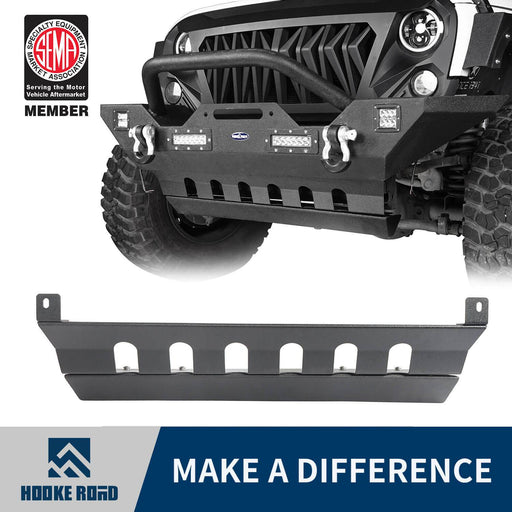 Hooke Road Jeep JK Front Skid Plate Textured Black Steel for Jeep Wrangler JK 2007-2018 BXG204 u-Box offroad 1