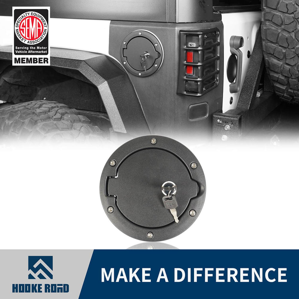 Hooke Road Jeep JK Gas Tank Gas Cap with Lock and Key for Jeep Wrangler JK 2007-2018 MMR1784 u-Box Offroad 1