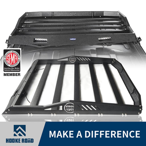 Hooke Road Jeep JK Roof Rack Cargo Carrier Rack Luggage Rack Storage Roof Rack for Jeep Wrangler JK 4 Doors 2007-2018 BXG203 Jeep Rack Jeep Accessories u-Box Offroad 1