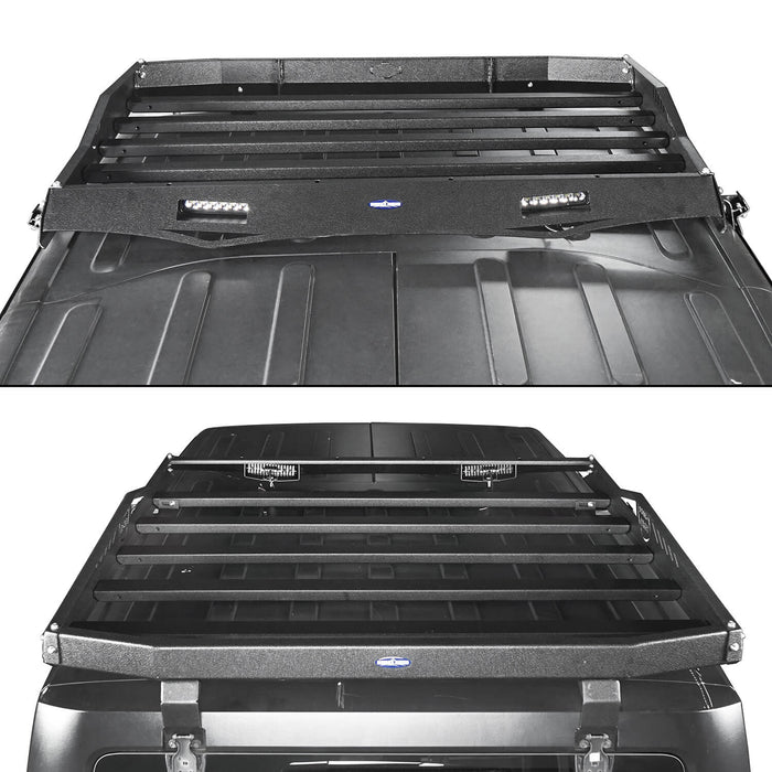 Hooke Road Jeep JK Roof Rack Cargo Carrier Rack Luggage Rack Storage Roof Rack for Jeep Wrangler JK 4 Doors 2007-2018 BXG203 Jeep Rack Jeep Accessories u-Box Offroad 5