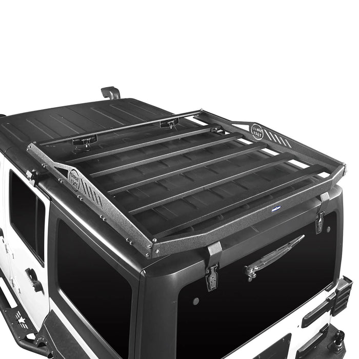 Hooke Road Jeep JK Roof Rack Cargo Carrier Rack Luggage Rack Storage Roof Rack for Jeep Wrangler JK 4 Doors 2007-2018 BXG203 Jeep Rack Jeep Accessories u-Box Offroad 3