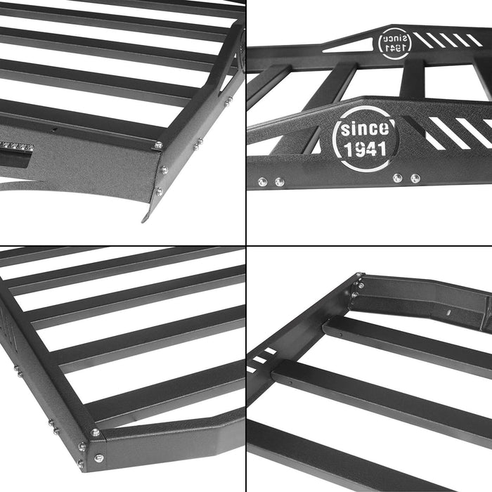 Hooke Road Jeep JK Roof Rack Cargo Carrier Rack Luggage Rack Storage Roof Rack for Jeep Wrangler JK 4 Doors 2007-2018 BXG203 Jeep Rack Jeep Accessories u-Box Offroad 10