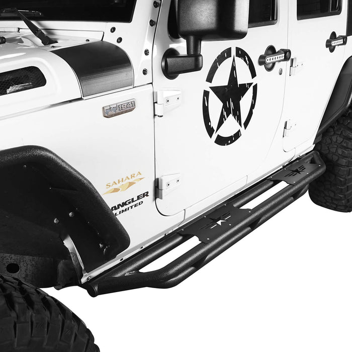 Hooke Road Jeep JK Running Boards and Tubular Half Doors Combo for Jeep Wrangler JK 2007-2018 BXG106136 Jeep JK Side Steps Jeep Tube Doors Jeep Half Doors u-Box Offroad 6