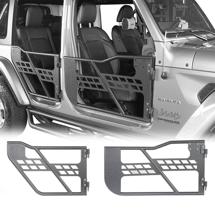 Hooke Road 4 Door Tubular Door & Running Boards(18-21 Jeep Wrangler JL)