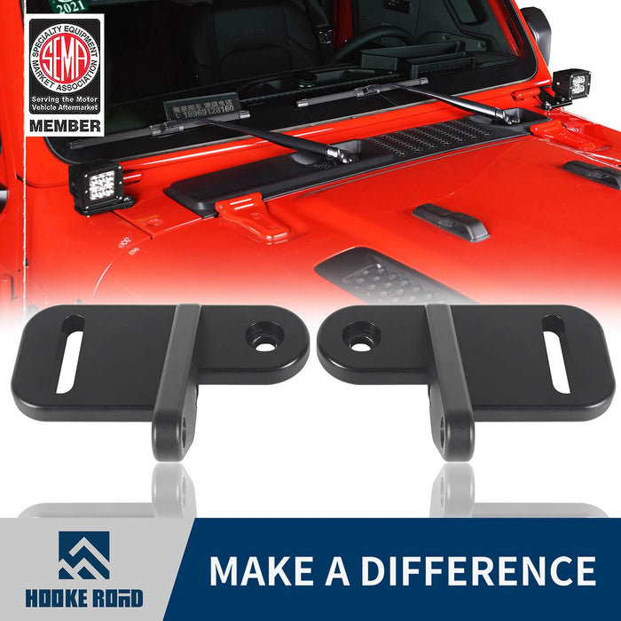 Hooke Road? A-Pillar Light Mounting for Jeep Wrangler JL 2018-2019 Jeep JL Parts MMR1815 u-Box offroad 1