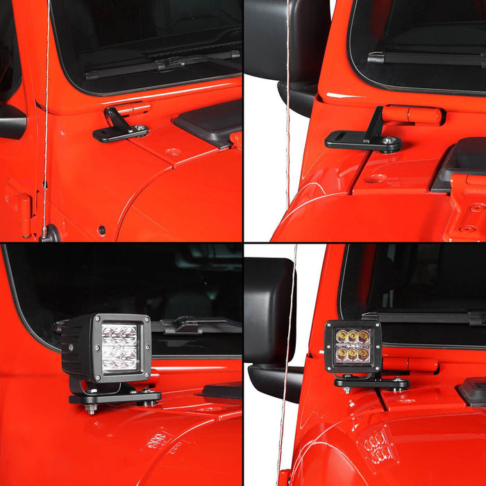 Hooke Road? A-Pillar Light Mounting for Jeep Wrangler JL 2018-2019 Jeep JL Parts MMR1815 u-Box offroad 7