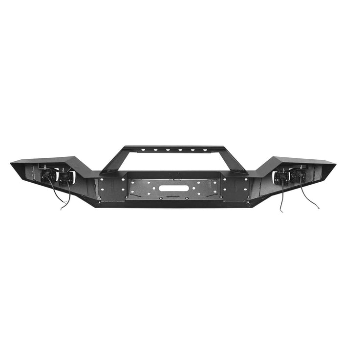 Hooke Road Jeep JL Full Width Front Bumper with Winch Plate for Jeep Wrangler JL 2018-2020 BXG517 Jeep JL Accessories u-Box offroad 10