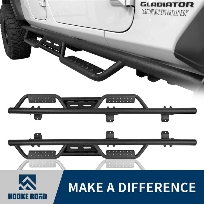 Hooke Road Mid Width Front Bumper / Rear Bumper / Side Steps Nerf Bars(20-21 Jeep Gladiator JT)