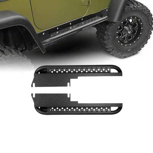 Hooke Road Side Steps Rocker Guard Door Guards(97-06 Jeep Wrangler TJ)