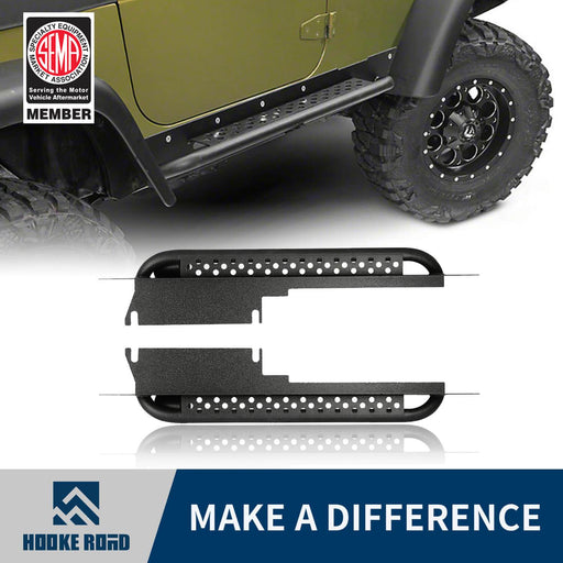 Hooke Road Opar Side Steps Door Guards for 1997-2006 Jeep Wrangler TJ u-Box offroad 1
