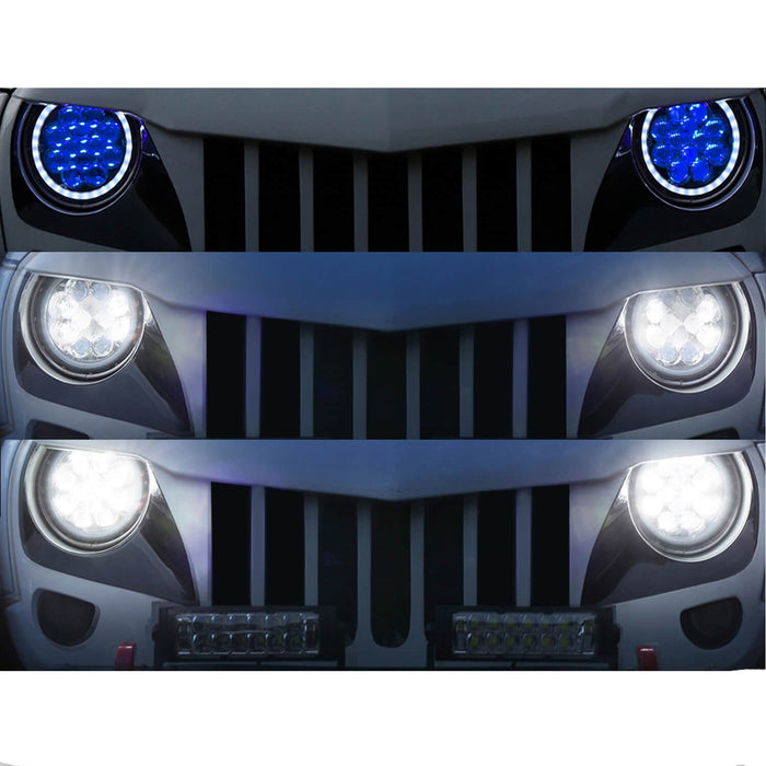 Hooke Road Opar 7 Inch DRL LED Headlights Halo Angel Eyes for 1997-2018 Jeep Wrangler JK Jeep Wrangler TJ MMRD u-Box offroad 4