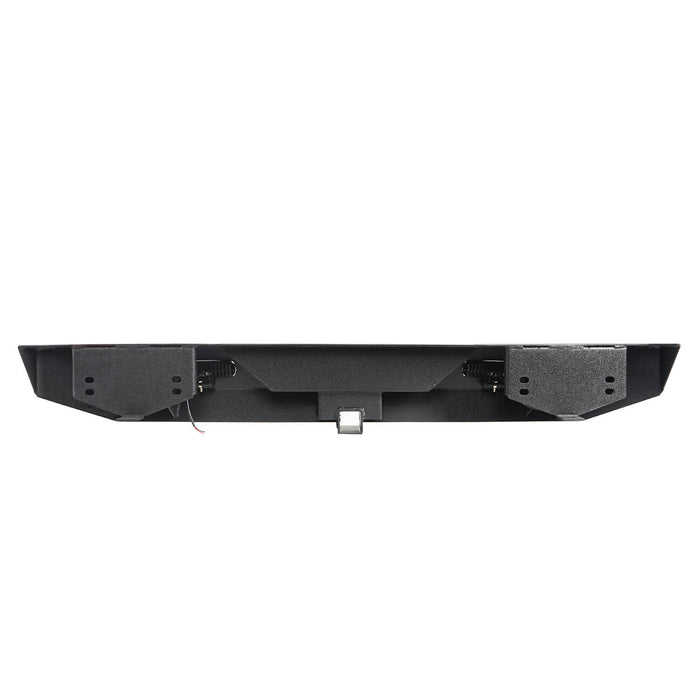 Hooke Road Different Trail Rear Bumper w/2 Inch Hitch Receiver for Jeep Wrangler TJ YJ 1987-2006 BXG120 u-Box offroad 11