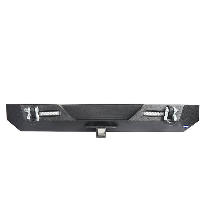 Hooke Road Different Trail Rear Bumper w/2 Inch Hitch Receiver for Jeep Wrangler TJ YJ 1987-2006 BXG120 u-Box offroad 8