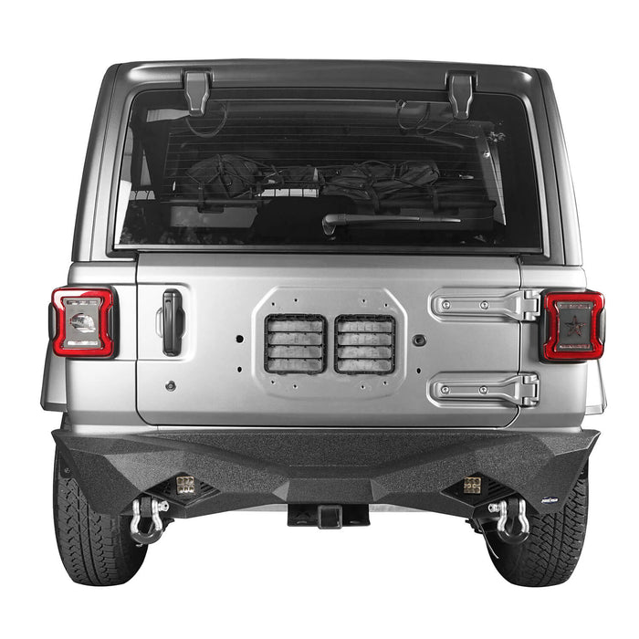 Hooke Road Jeep JL Rear Bumper w/Hitch Receiver Jeep JL Bumper Jeep JL Accessories for 2018-2019 Jeep Wrangler JL u-Box offroad 3