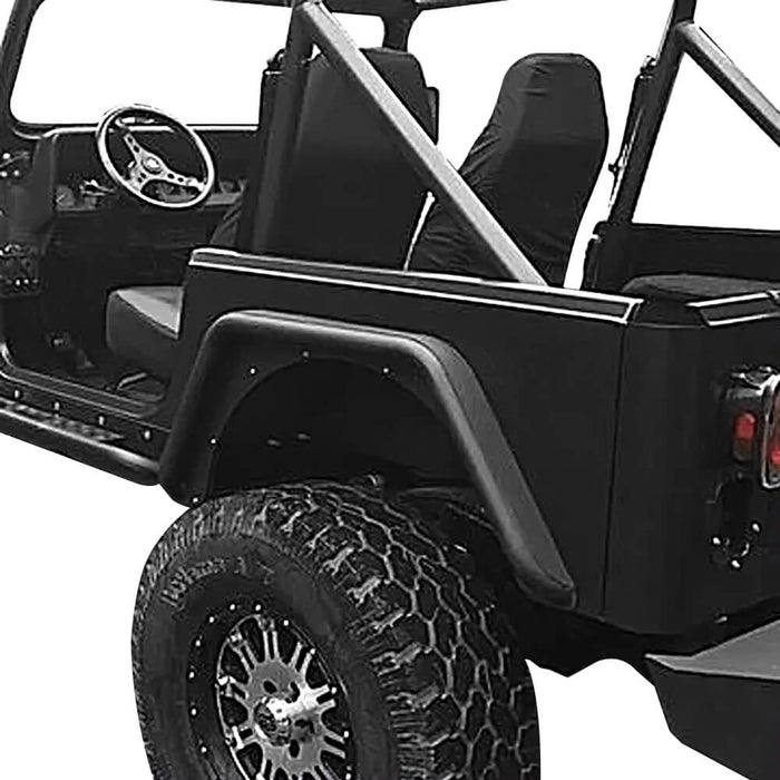 Hooke Road Rear Fender Flares(87-95 Jeep Wrangler YJ)