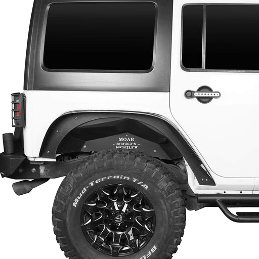 Hooke Road® Rear MOAB Inner Fender Liners Black Steel(07-18 Jeep Wrangler JK)